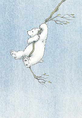 Poster, Kleine IJsbeer slingert