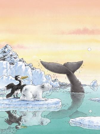 Poster, Kleine IJsbeer en de walvisbaai