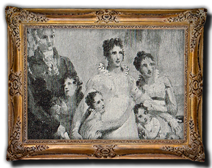 Mevrouw Kemper met haar gezin in november 1813 Rechts Betsy