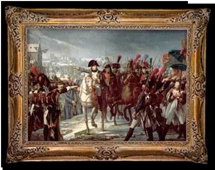 Napoleon voert zijn Grote Leger aan