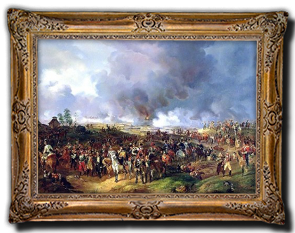 De slag bij Leipzig