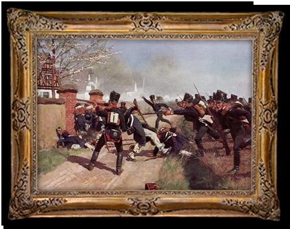 De Pruisen rukken op tijdens de slag bij Lützen