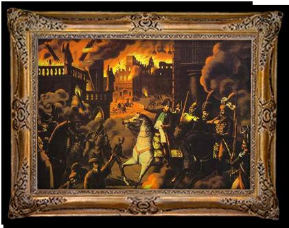 Napoleon in het brandende Moskou