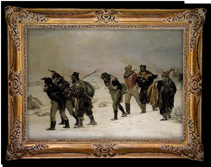 Het trieste restant van Napoleons Grote Leger