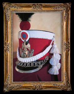 Het hoofddeksel van de Garde d'Honneur