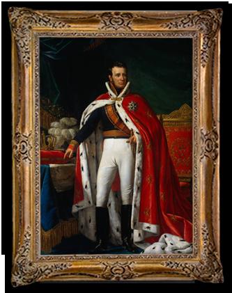 Willem I in koningsmantel