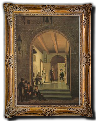 Zo zag het Aalmoesseniershuiser in 1820 uit