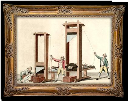 De guillotine: in een fractie van een seconde werd de veroordeelde onthoofd