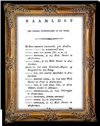 Een lijst met namen van voorintekeners