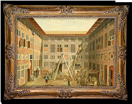 De binnenplaats van het Rasphuis
