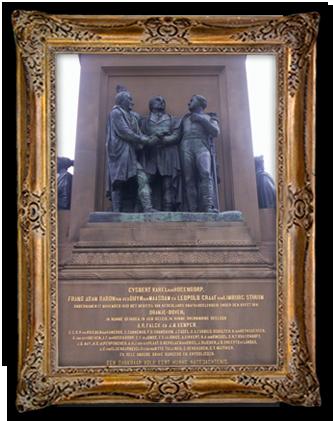 Standbeeld van het driemanschap