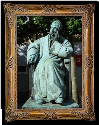 standbeeld van meester Kemper