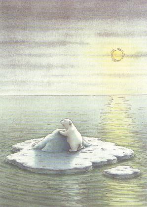 Prentbriefkaarten, Een ijsbeer in de tropen