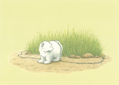 Kaart 212: Kleine IJsbeer aan ketting
