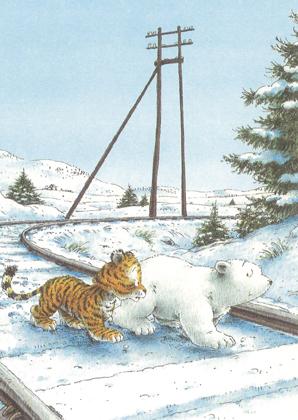 Kaart 257: Kleine IJsbeer weet jij de weg?