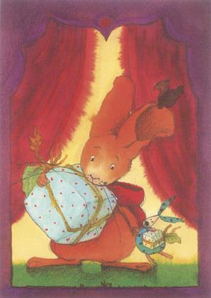 Prentbriefkaarten, Paultje met cadeaus