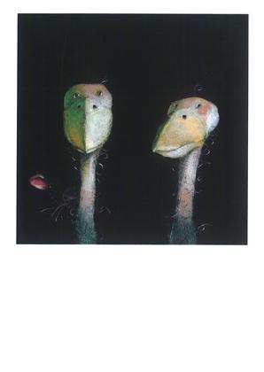 Prentbriefkaarten, Jonge vogeltjes