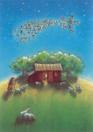 Prentbriefkaarten, De ster van Bethlehem
