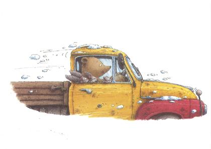 Kaart 153, Bernard rijdt auto