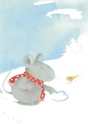Prentbriefkaarten, Liefde in de sneeuw