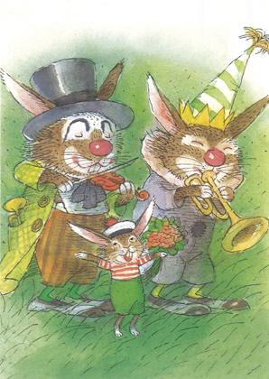 Prentbriefkaarten, Rudolf en de muzikanten