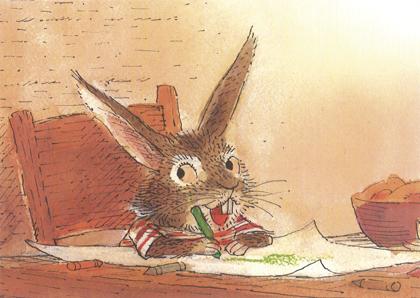 Prentbriefkaarten, Rudolf tekent