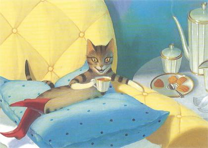 Prentbriefkaarten, De gelaarsde kat