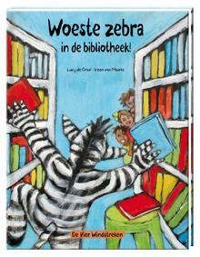 E-book, Woeste zebra in de bibliotheek!