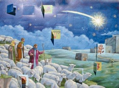 Adventskalender Herders in de kerstnacht