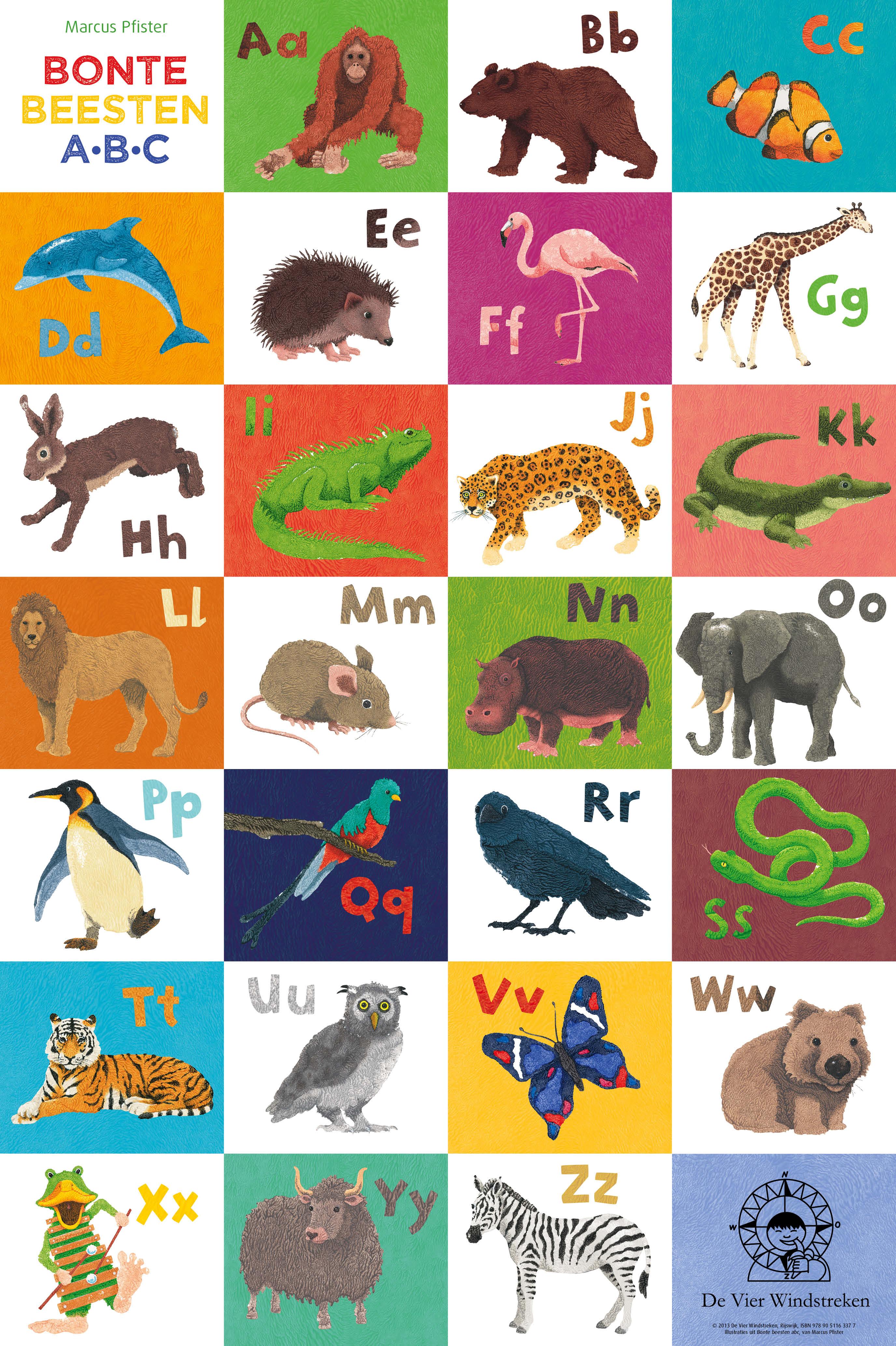 Poster, Bonte beesten abc