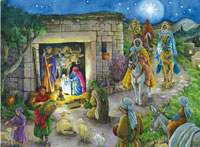 Adventskalender Kerststal