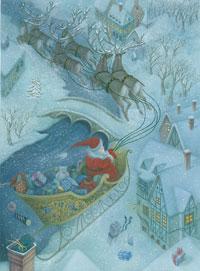Adventskalender Kerstman in slee