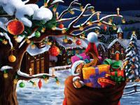 Adventskalender Kerstavond in het dorp