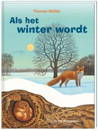 Als het winter wordt, kartonboek met flapjes