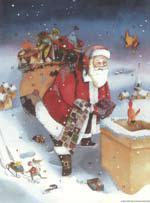 Adventskalender Kerstman brengt cadeaus