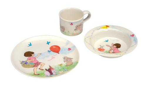 Kinder-eetset Belle & Boo Meisje met konijn