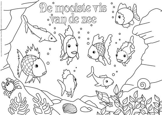 Kleurplaat De mooiste vis van de zee 1