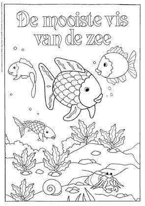 Kleurplaat De mooiste vis van de zee 2