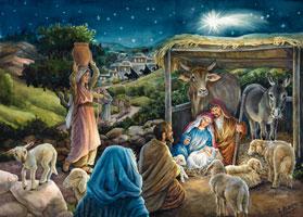 Adventskalender Jezus is geboren