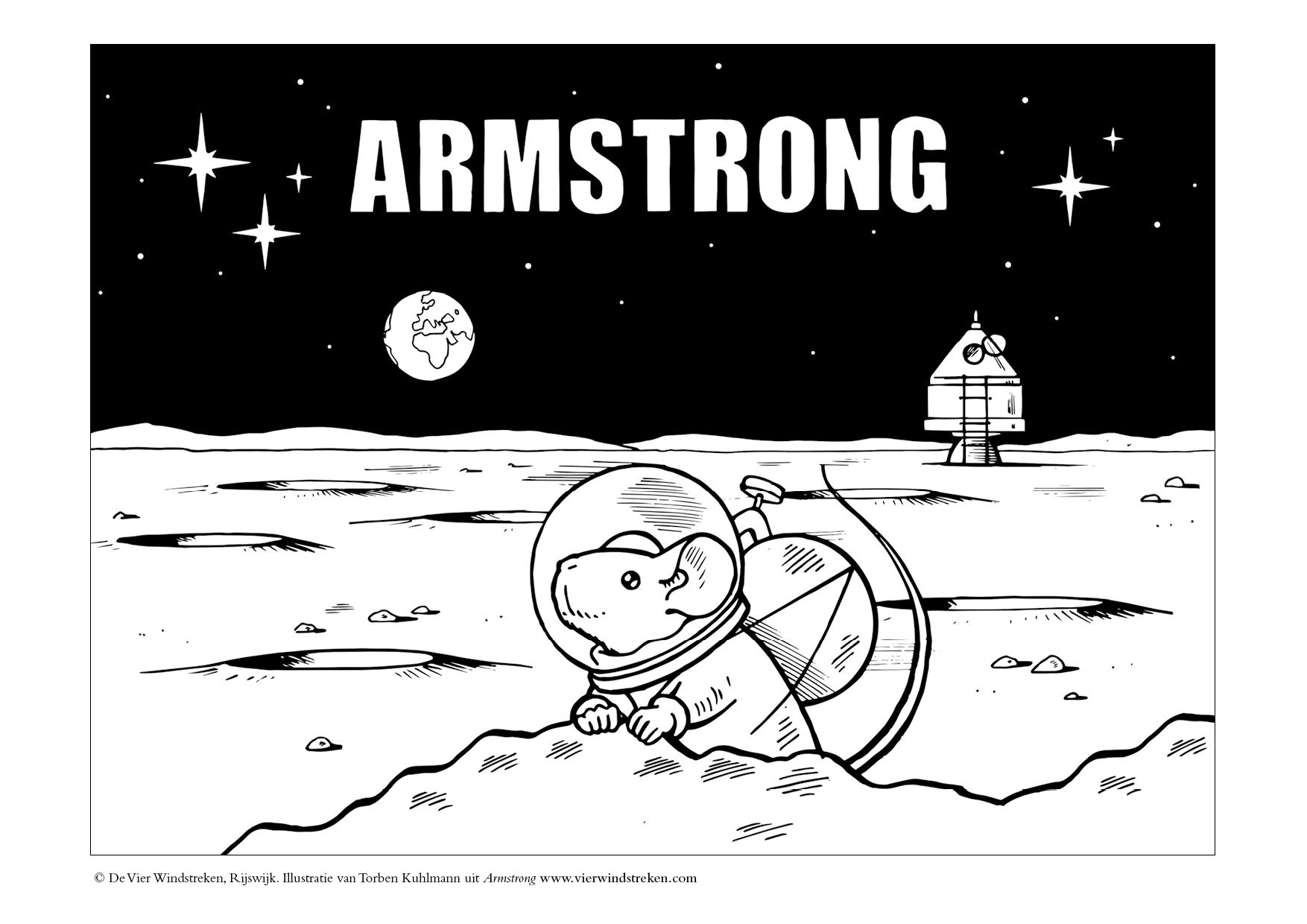 Kleurplaat Armstrong