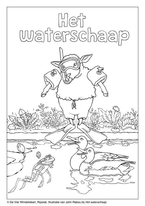 Kleurplaat Het waterschaap
