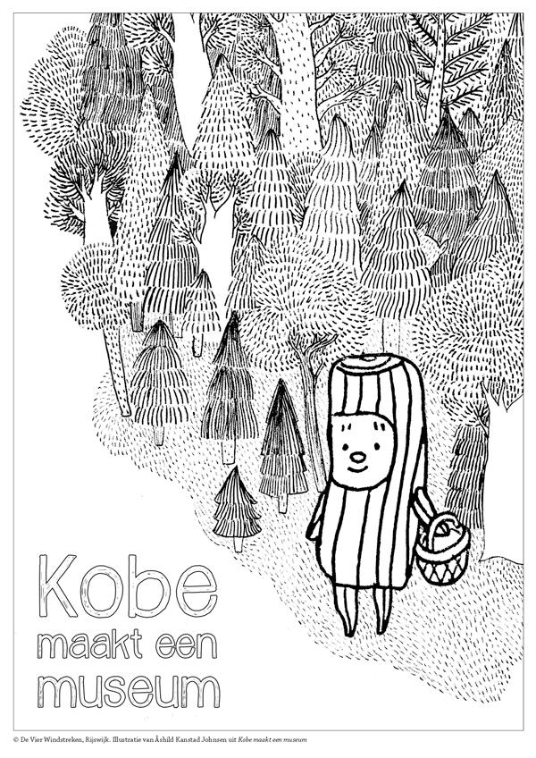 Kleurplaat Kobe maakt een museum 2