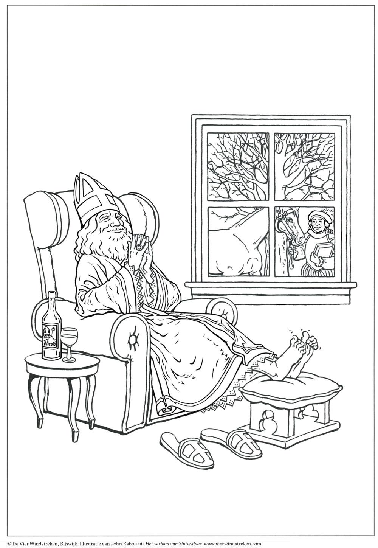 Kleurplaat Het verhaal van Sinterklaas 2