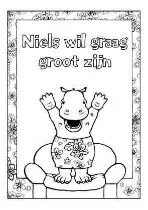Kleurplaat Niels wil graag groot zijn