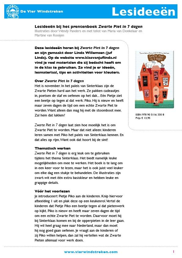 Lesideeën Zwarte Piet in 7 dagen