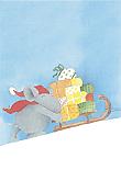 Prentbriefkaarten, Een slee vol cadeautjes