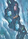 Prentbriefkaarten 10 ex., De mooiste vis van de zee in een rif
