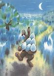 Prentbriefkaarten, Paashaas met eieren