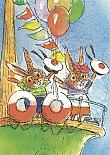 Prentbriefkaarten, Rudolf op boot