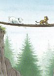 Prentbriefkaarten 10 ex., Kleine IJsbeer neemt gevaarlijke weg